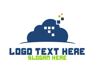 Streaming - Cloud Pixels logo design