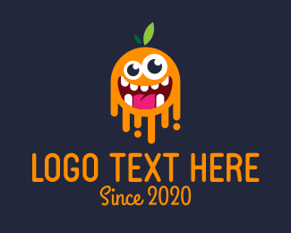 Pumpkin - Orange Monster logo design