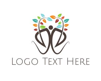 Gardener - Colorful Human Tree logo design