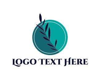 Peaceful - Blue Leaf logo design
