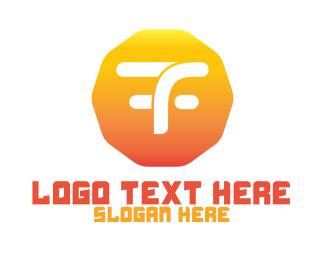 Duty Free - T & F logo design