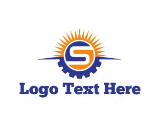 Letter S - Solar Energy  logo design