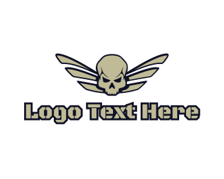 Crypt - Skull Wing Gaming logo design