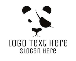 Zoo - Pirate Panda logo design
