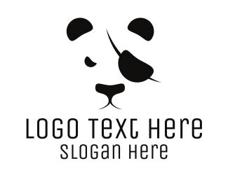 Panda - Pirate Panda logo design