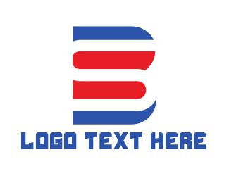Clan - Red Blue BS logo design