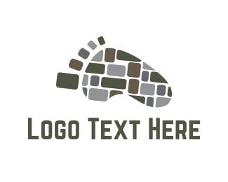 Walk - Stone Path logo design