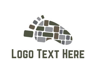 Foot - Stone Path logo design