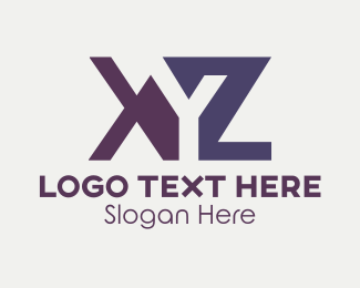 Letter X - Orange & Purple Letters logo design