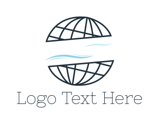 Water - Abstract Globe logo design