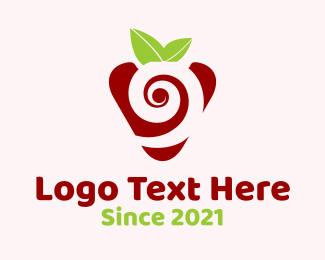 Berry - Strawberry Spiral logo design