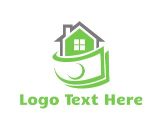 Financial - Cash & House logo design