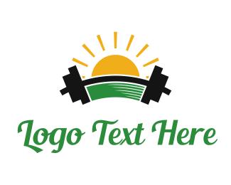Workout - Morning Gym logo design