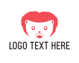 Mascot - Happy Hedgehog Mascot logo design