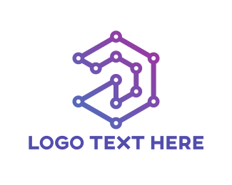 Business Software - Purple Connection logo design