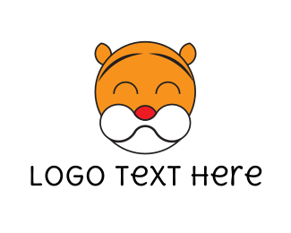 Tiger - Cute Tiger logo design