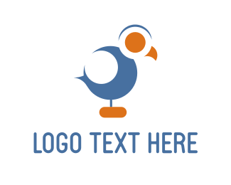 Chick - Blue Cuckoo logo design