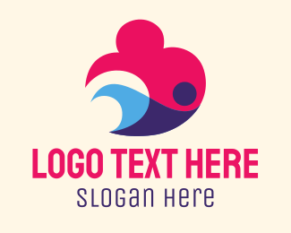 Abstract - Abstract Swimmer logo design