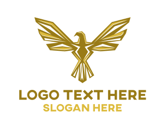 Private - Gold Security Eagle logo design