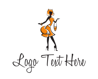 Handbag - Fox Lady logo design