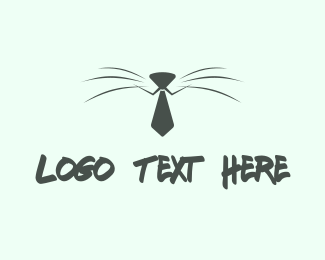 Whiskers - Business Cat logo design