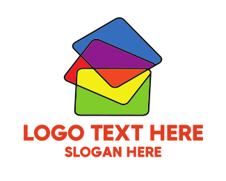 Learning - Colorful Folders logo design