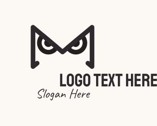 Letter W - Owl Letter W logo design