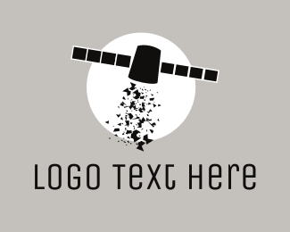 Satellite - Space Satellite logo design