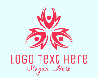 Therapy - Flower Petal People logo design