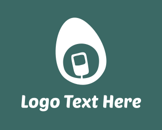 White Mobile Egg Logo