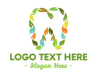 Foliage - Leaves & Tooth logo design