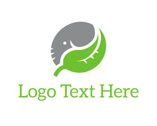 Yin And Yang - Elephant Leaf logo design