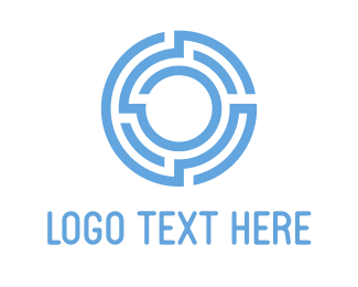 Business - Blue O Maze logo design