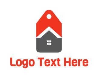 Book Store - House Tag logo design