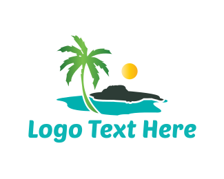 Sun - Sunny Beach logo design