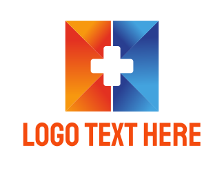 Rescue - Medical Cross logo design