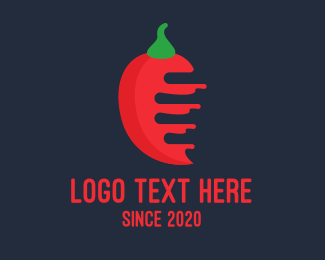 Pepper - Red Half Bitten Chili logo design