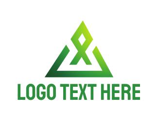 Aquatic - Geometric X  logo design