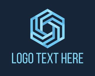 Hexagonal - Blue Hexagon logo design