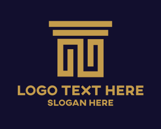 Greek - Attorney Law logo design