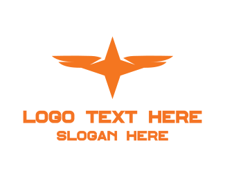 Symbol - Orange Star Wing logo design
