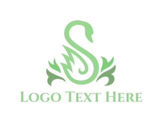 Goose - Green Swan logo design