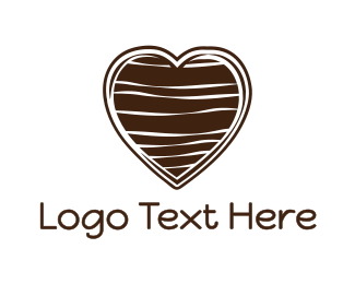 Sweets - Chocolate Heart logo design