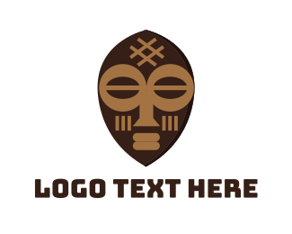 Mask - Tribal Mask logo design
