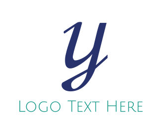 """Elegant Blue Letter Y"" by BrandCrowd"