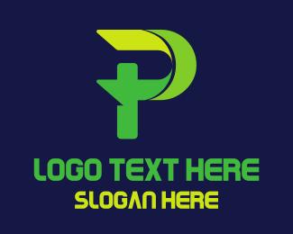 Video Game - Gaming Green Letter P logo design