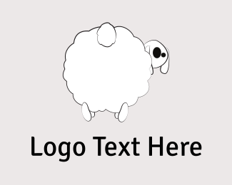 Sheep - White Sheep Cartoon logo design