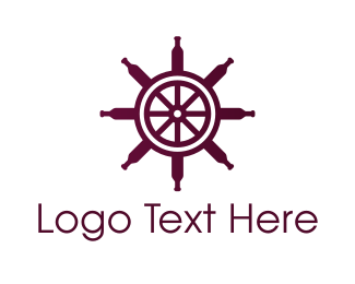 Nautical - Wine Wheel logo design