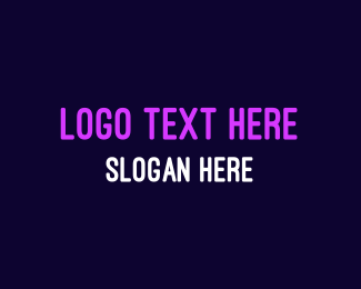 80s - Bright Neon Purple logo design