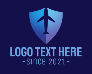 Airplane - Airplane Shield logo design